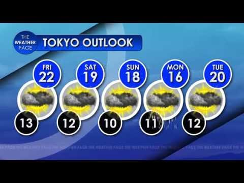Tokyo 5 Day Forecast (Graphics Only) 30 Oct 2015