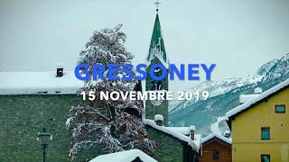 Valle di Gressoney - Nevicata 15-11-2019