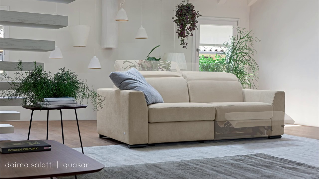 Doimo Salotti - divano con meccanismo relax Quasar - YouTube