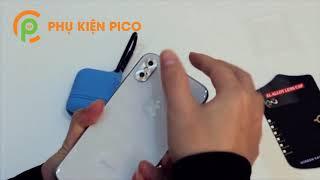 Hướng dẫn dán camera Iphone Xs Max / Iphone Xs, Iphone X chống xước cá tính bảo vệ camera