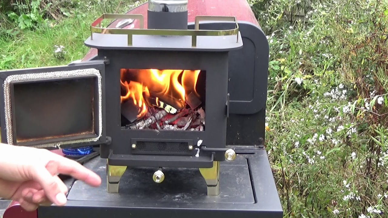 Cubic Mini Wood Stove First Fire Youtube