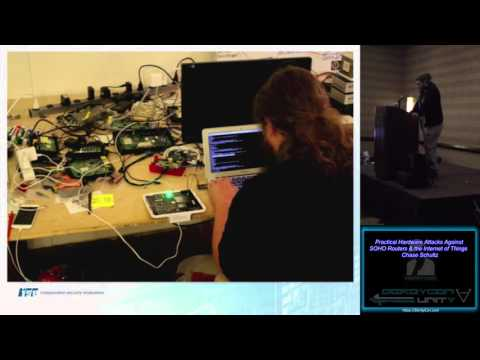 Break Me19 Practical hardware attacks against SOHO Routers the Internet of Things Chase Schultz