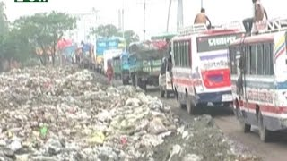 Household garbage goes to highways in Gazipur city corporation I News & Current Affairs