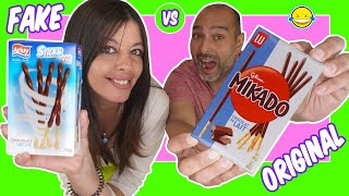 🍟Original Food vs Fake Food #2 🍩 COMIDA ORIGINAL vs COMIDA FAKE #2  Jordi y Bego Momentos Divertidos