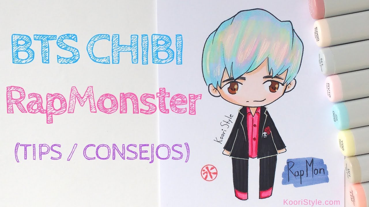 【bts Chibi】 Speed Drawing Rap Monster Advice Eng Esp