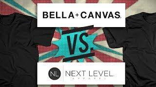 Bella Canvas vs Next Level: Blank T-shirt Battle