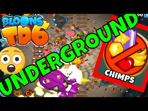 BLOONS TD 6 UNDERGROUND MAP ON CHIMPS MODE