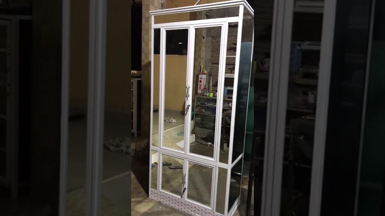 Lemari 2 pintu aluminium - YouTube