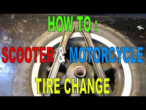 How To Change Scooter & Motorcycle Tires
