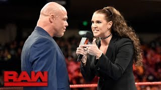 Stephanie McMahon takes issue with Kurt Angle and #UnderSiege: Raw, Oct. 30, 2017