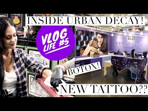 VLOG LIFE #5 | INSIDE URBAN DECAY HEADQUARTERS + GETTING A NEW TATTOO