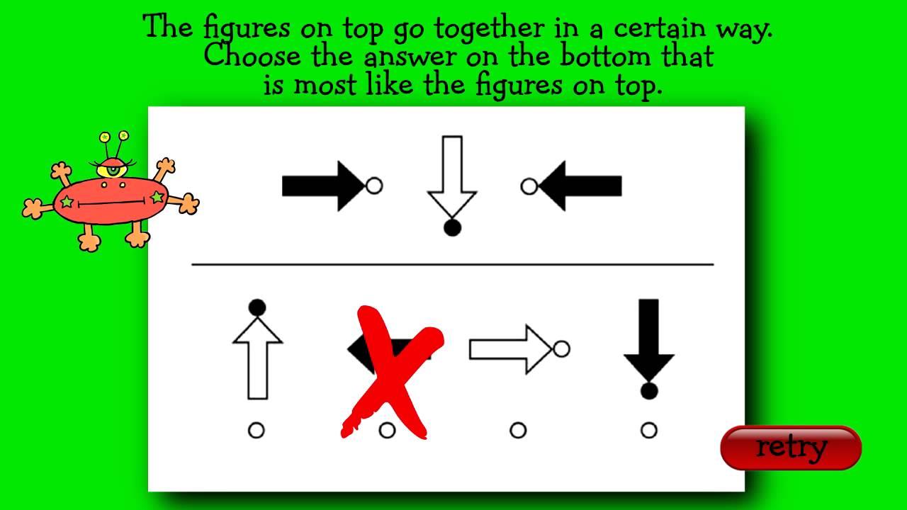 Interactive Practice Question for CogAT ® Kindergarten Level - YouTube
