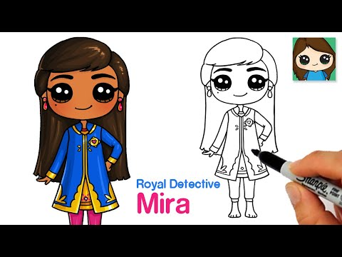 How to Draw Mira from Royal Detective