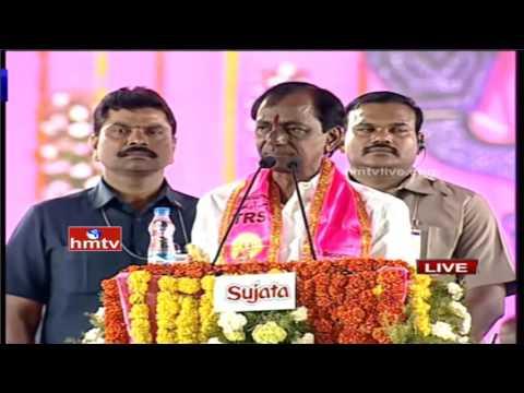 CM KCR Excellent Speech in TRS Pragathi Nivedhana Sabha   Warangal   HMTV