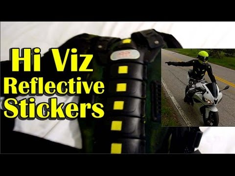 Hi Viz Reflective Stickers Motorcycle Gear Visibility YouTube - Stickers on motorcycles