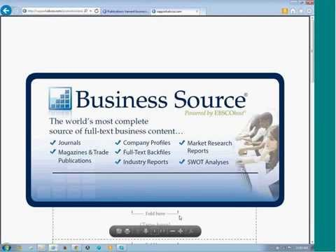 NSLA - EBSCO: Business Resources Database Webinar-July 10, 2014 Archive