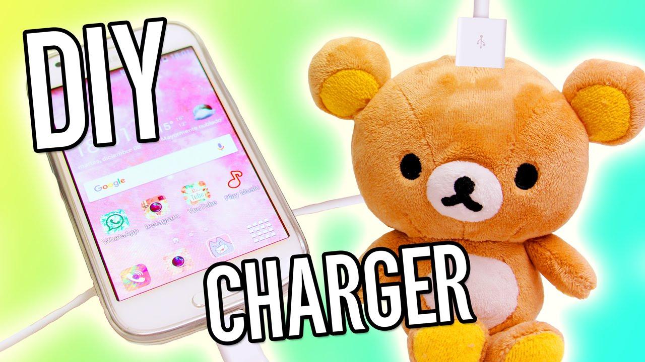Diy Rilakkuma Charger Teddy Bear Portable Iphone Charger