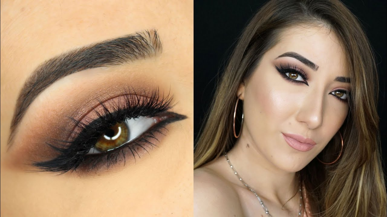 Sultry Cat Eye and Soft Arabic Makeup Tutorial | Zoeva ...