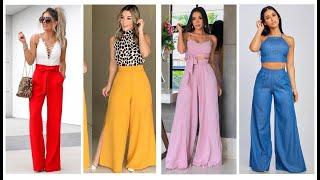 Pantalones De Moda En Tendencia 2020 58 Outfits De Palazos Elegantes Y Casuales Que Amaras Youtube