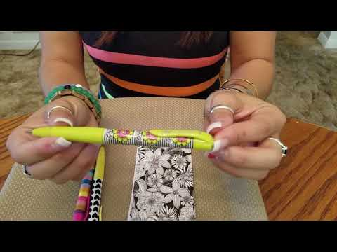 ASMR *NO TALKING* Testing my new pens. Tapping, Tracing, Writing, and Paper Tingles!