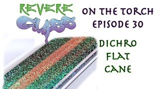 How to Make Flat Cane (Press Method) || REVERE GLASS ||