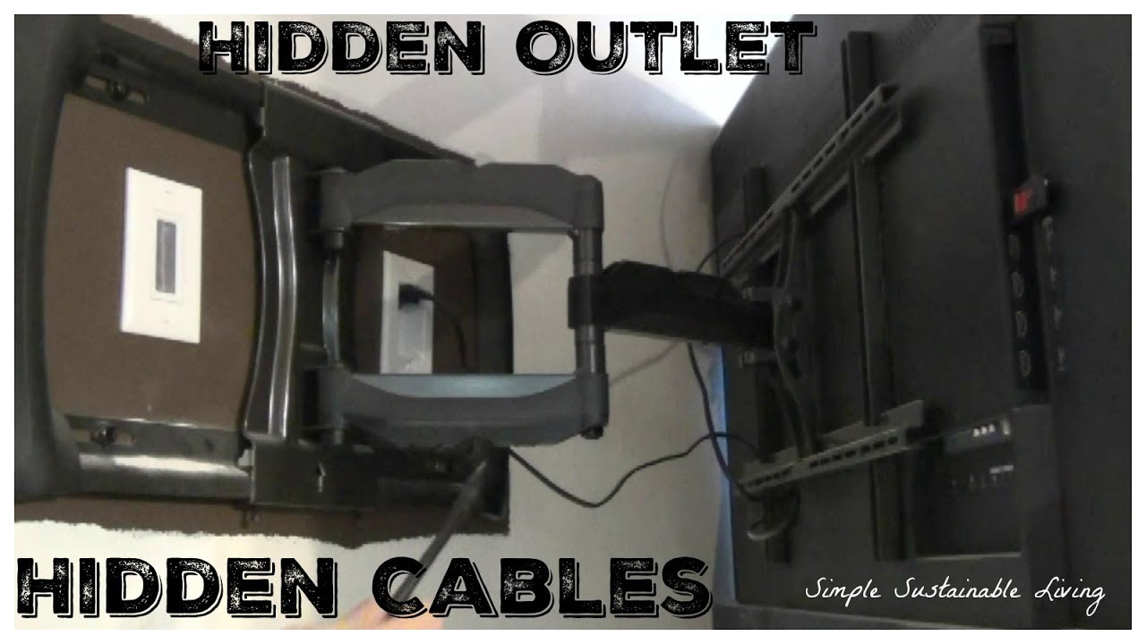 How To Add An Outlet Behind Your Tv And Hide A V Cables Youtube Recessed Wiring Box