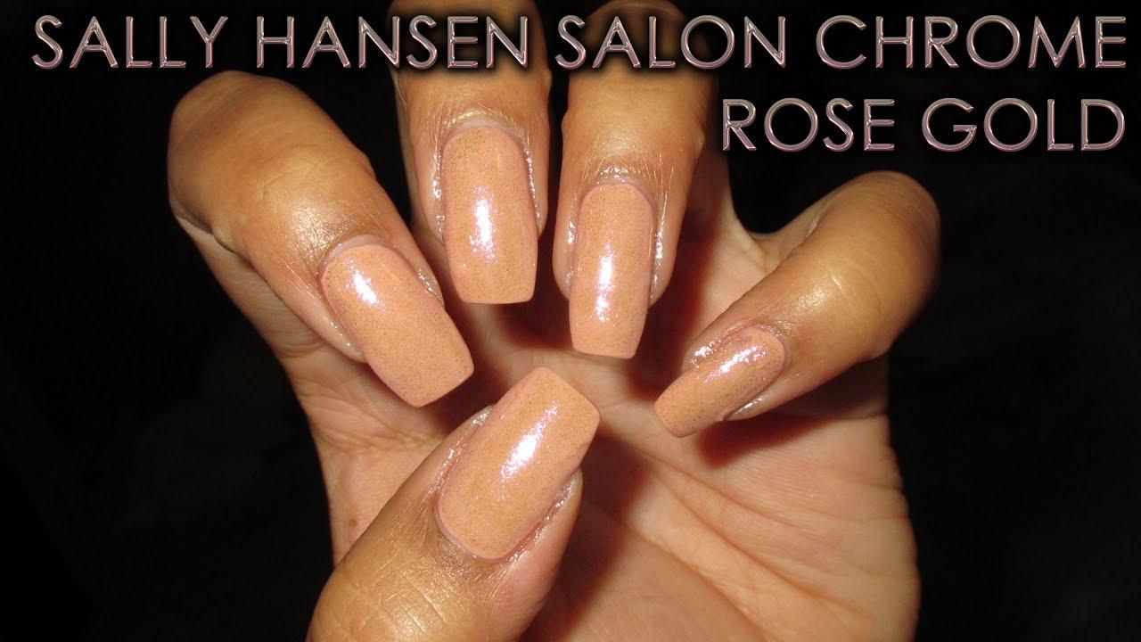 Sally Hansen Salon Chrome Rose Gold Diy Nail Art Tutorial