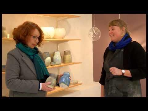 Kunst på Øen med keramiker Sarah Oakman, Det Brune Værksted