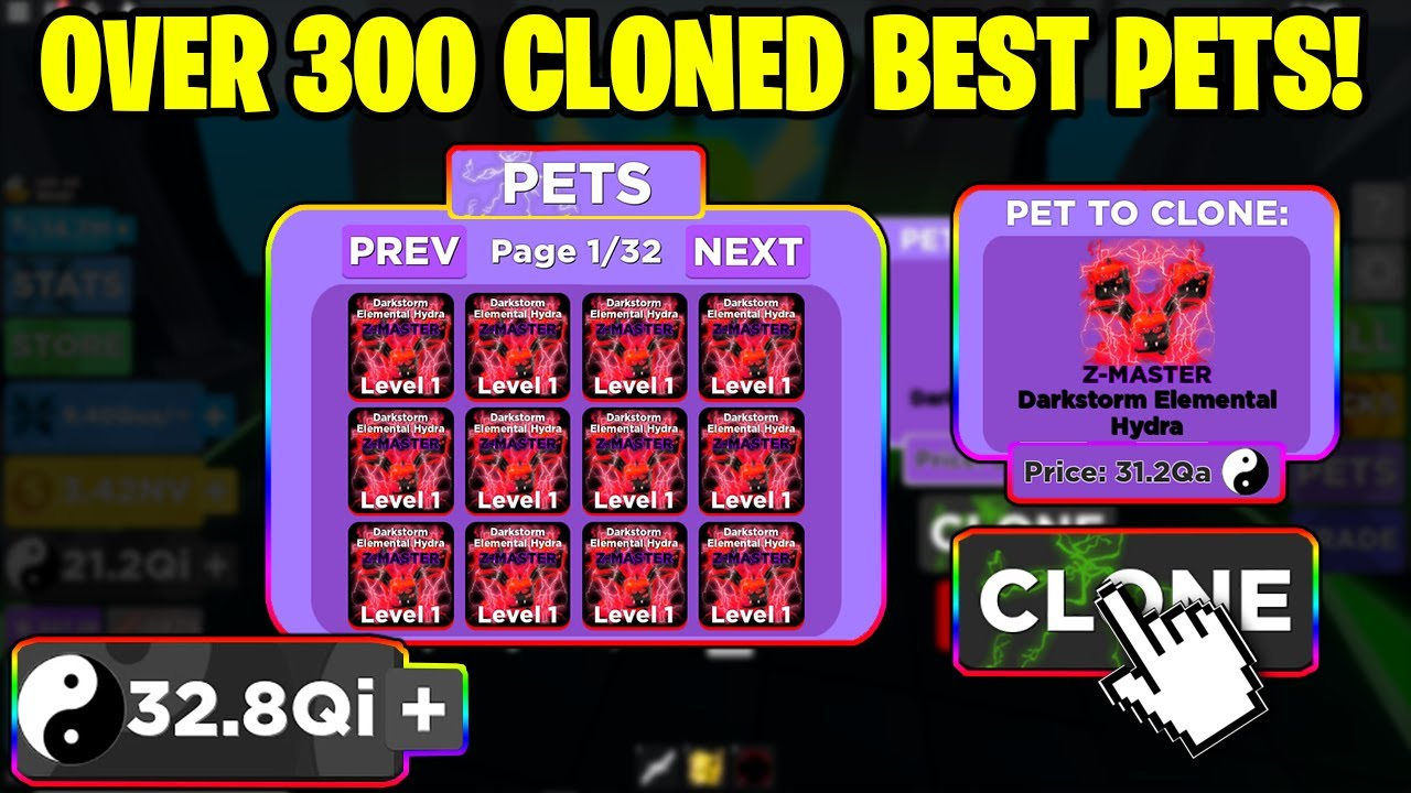 I Cloned Over 300 Z Master Best Pets In Ninja Legends These Are Insanely Op 100m Stats Youtube
