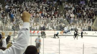 Penn State ice hockey scores a goal shorthanded against Army at Pegula Ice Arena