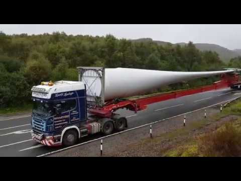 Vestas Wind Turbine Blade transportation