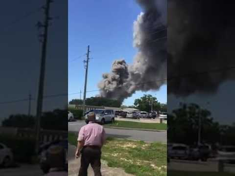 Explosion on Eglin Air Force Base - Video by Rick Lake
