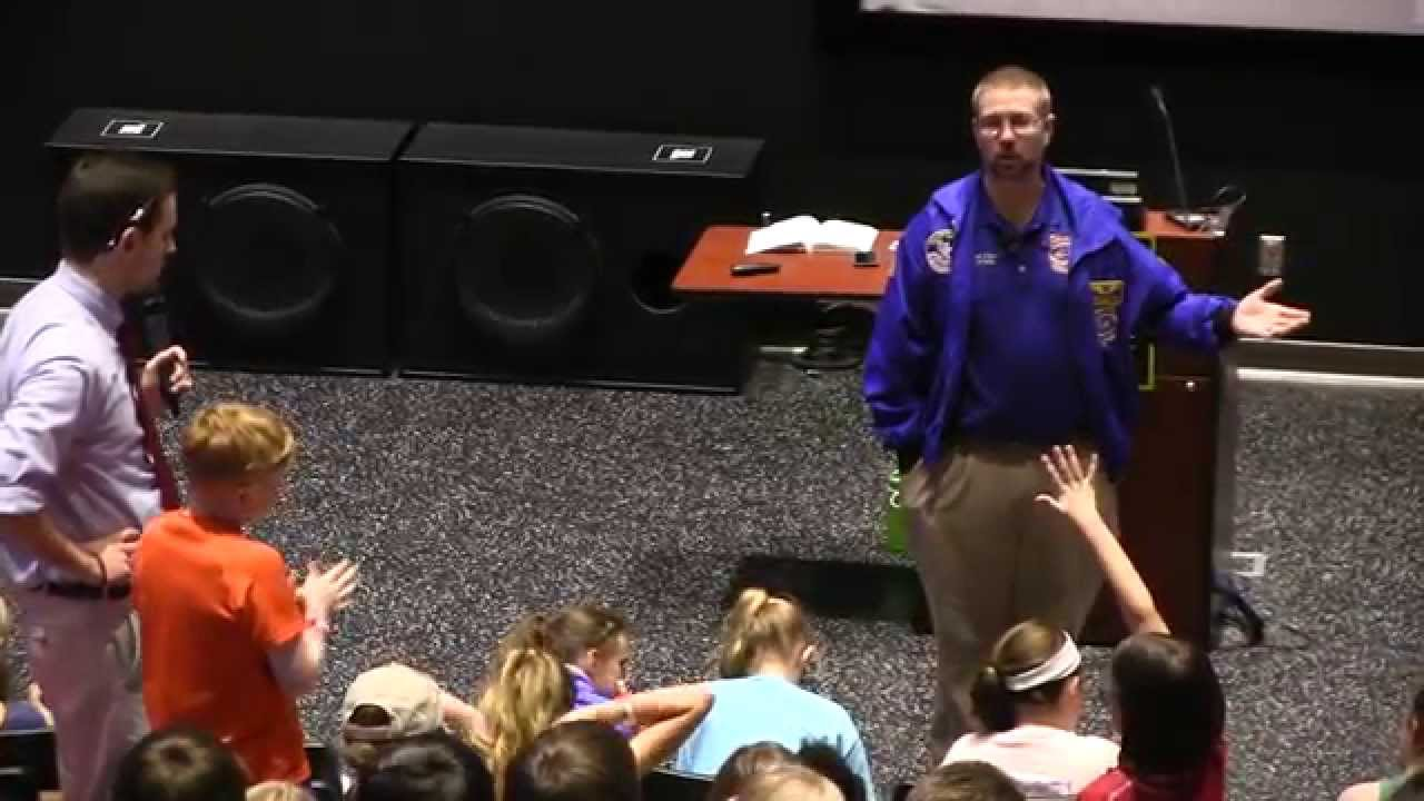NASA Flight Director Ed Van Cise Speaks to Space Camp Kids ...
