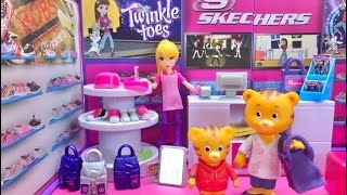 SHOPPING at SKETCHERS Store Daniel Tiger's Neighbourhood Toys Doll Video for Kids
