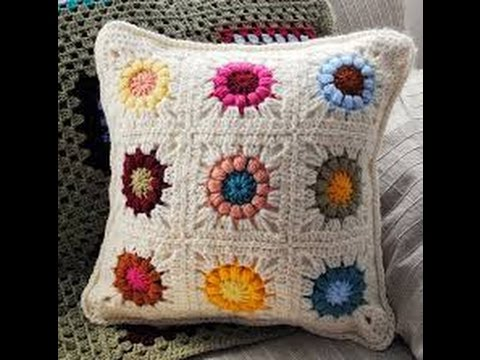 de1cafcec0f2c كروشيه مربع الجرانى crochet granny square - YouTube