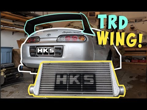 TRD WING On My Supra + HKS INTERCOOLER STENCIL (D.I.Y)