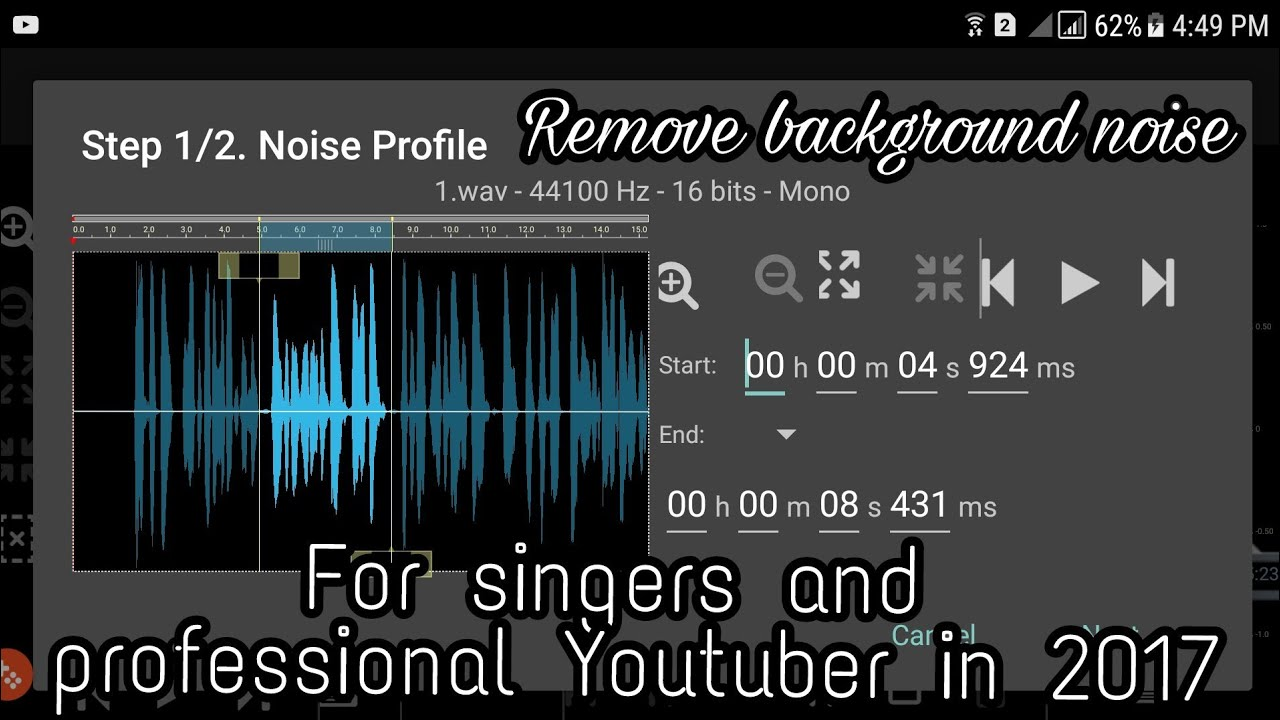 How to remove background noise in audio and video? Just use this app donin  audio editor