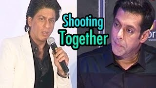 Shahrukh khan - Salman Khan shooting in the same studio