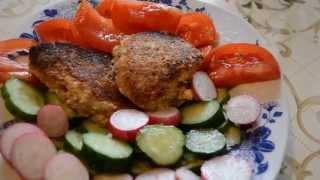 Обед и ужин по диете Дюкана.Рыбные котлеты. Салат.Как похудеть быстро Похудела Похудение