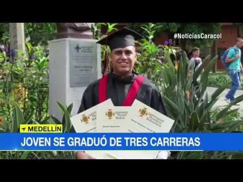 Daniel Amaya 3 carreras UPB Caracol Noticias