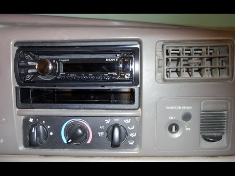 How to install an aftermarket stereo in a Ford Truck  YouTube