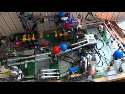 Lego Nxt 2 Colour Ball Sorting Robot Arm