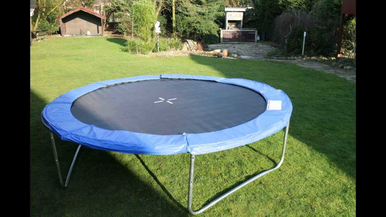 klarfit tr 305 trampolin gartentrampolin bis 150kg inkl. Black Bedroom Furniture Sets. Home Design Ideas