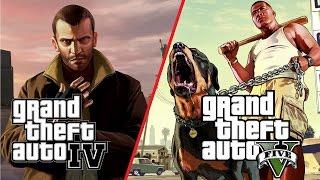 GTA V vs GTA IV # 2 (PC, Max Settings)