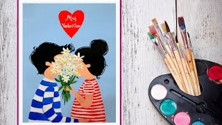 Видео урок Рисуем картину My Valentin #Dari Art #День Святого Валентина