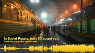 Russian Train Trip. 3D Sound. (ASMR, Binaural, Holophonics) relaxing music for sleep and meditation