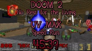 Doom 2: No Rest for the Living UV Max Speed Run World Record in 45:39