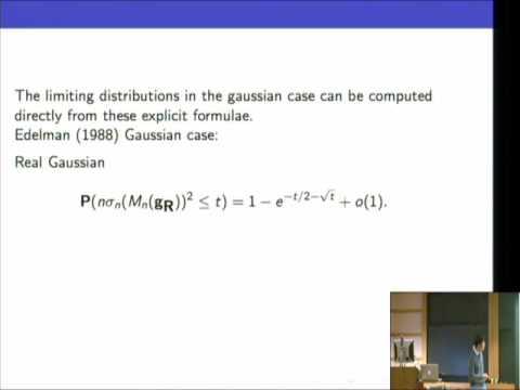 The Condition Number of a Random Matrix: From von Neumann-Goldstine to Spielman-Teng - Van Vu