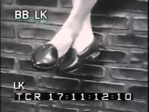 1950s Black & White Archival Footage - Schiff Shoes Commercial