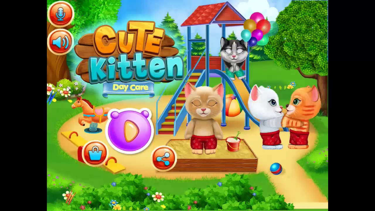 Cute Kitten Day Care Cute Kitty Day Care Games By Gameiva